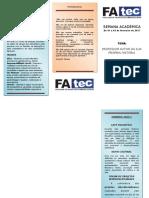 Folder Semana Acadêmica