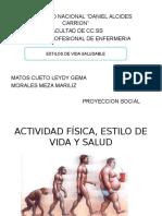 Actividad Fisica Estilo de Vida y Salud