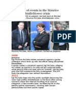 A Timeline of Events in the Maurice McCabe Whistleblower Crisis