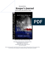 The Keepers Journal (*EXCERPTS ONLY*)
