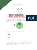 Questões Provão 9 Ano Matematica - 4 Bim