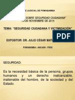Seguridad Ciudadana y Victimización Huaraz