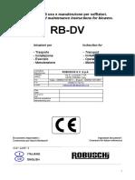 Manual Sopradores Robuschi - Italian