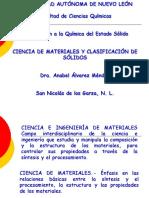 Ciencia de Materiales y Clasificación de Los Sólidos