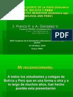 El nematodo quiste de la papa Globodera sp. en Bolivia y Perú (PowerPoint)