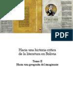 Hacia Una Historia Crítica de La Literatura en Bolivia (Tomo II) -  Blanca Wiethüchter, Alba María Paz Soldán, Omar Rocha, Rodolfo Ortiz