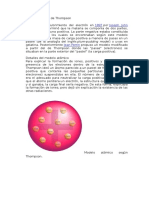 Modelo Atómico de Thompson, Borh, Rutherford, y El Principio de La Incertidunmbre