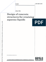 Design of Concrete Structures for Retaining Aqueous Liquids