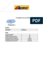 Ip Address Calculating ( Job Sheet 1)