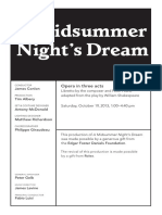 Oct 19 Midsummer Night's Dream