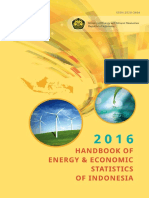Handbook of Energy Economic Statistics of Indonesia 2016