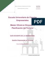 Guía 2012-13 Gestión Empresarial Master de Turismo