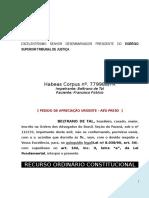 Recurso Ordinario Constitucional Habeas Corpus STF Excesso Prazo Formacao Culpa BC368