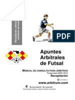 Reglamento Oficial de Futsal