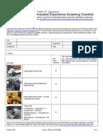 Ergonomics Checklist Industrial