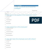 Employee Performance Template
