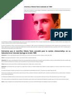 «Todo Es La Luz» La Fascinante Entrevista a Nikola Tesla Realizada en 1899 _ Código Oculto