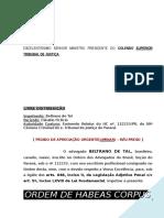 Habeas Corpus Indeferimento Medida Liminar Furto STJ Sumula 691 Stf BC376