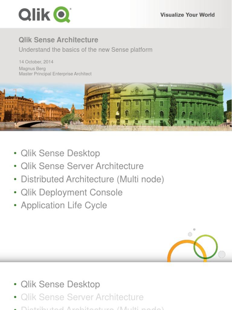 Qlik Sense Architecture - Magnus Berg(1) | Application Software