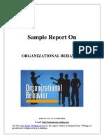 Sample Report on Organizational behavior
