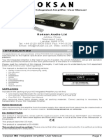 Caspian m2 Integrated Amplifier User Manual