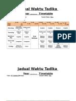 7a-Contoh JWaktu Tadika