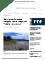 Kala Hutan Terbabat Berganti Sawit, Ban...Pun Terjang Manokwari – Mongabay.co.Id