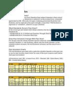 Pipe Schedules