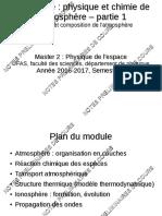 Cours PhysChimAtmosph Part1 2017