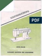 Manual de Maquina de Coser Liberty Zig Zag