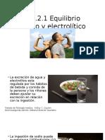 Equilibrio Hidrico y Electrolitico