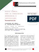 Icono14. A8/V2. Nuevos tiempos para la Comunicación Empresarial e Institucional. Presentación