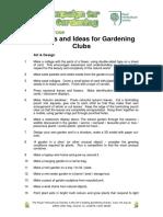 Garden Club Ideas