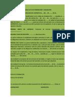MODELO ACTA DE TERMINACIÓN Y LIQUIDACIÓN