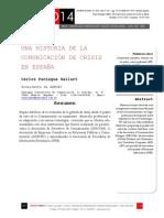 Icono14. A8/V2. Una historia de la comunicación de crisis en España