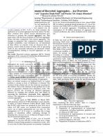 Need for Management of Recycled Aggregate - An Overview