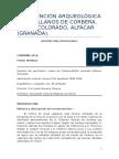 INTERVENCIÓN ARQUEOLÓGICA EN LOS LLANOS DE CORBERA, PEÑÓN COLORADO, ALFACAR (GRANADA)