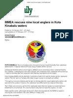 MMEA Rescues Nine Local Anglers in Kota Kinabalu Waters