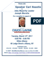 March fundraising invite for Assemblyman Lavine's Nassau Co Exec run
