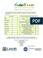 Leeds in Bloom Business Entry Form