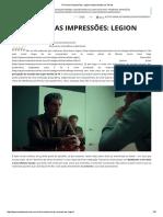 Primeiras Impressões_ Legion