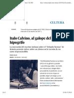 Italo Calvino, Al Galope Del Hipogrifo