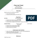 Resume Workshop Template