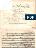Dussek - 3 Sonatas for Pianoforte With Violin, Op.51 - Piano Score