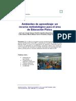 Ambientes de aprendizaje; un recurso metodológico para el área de Educación Física