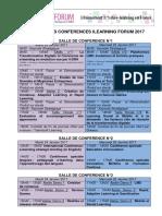 Programme Conférences ILearning Forum 2017