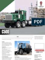 Kenworth C500 truck brochure.
