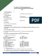 VAMP - IEC 60870-5-103 Interoperability List