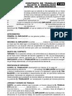 CONTRATO DE TRABAJO SUJETO A MODALIDAD ACCIDENTAL DE EMERGENCIA