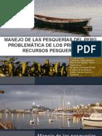 MANEJO DE LAS PESQUERÍAS DEL PERÚ, PROBLEMÁTICA DE LOS PRINCIPALES RECURSOS PESQUEROS
